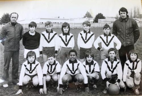 Claude au foot en 1972